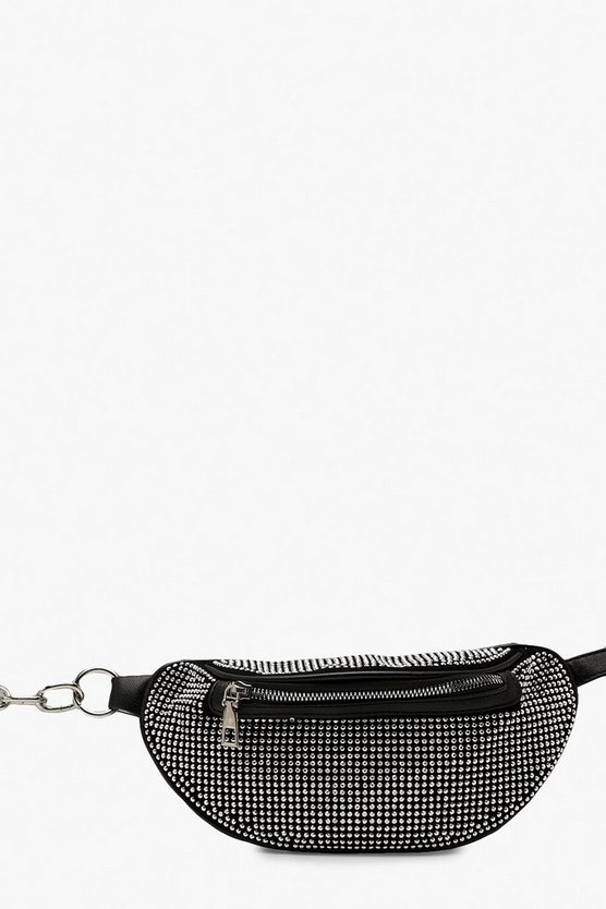 Rhinestone & Chain Bum Bag