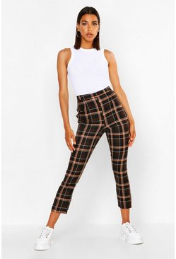 Chocolate Check Tailored Tapered Trouser