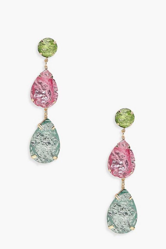Bright Stone Multi Drop Earrings