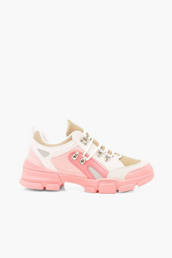 Lace Up Colourblock Hiker Trainers