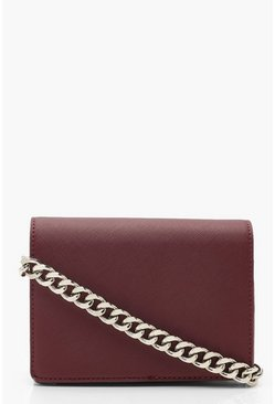 Dam Berry Chunky Chain Hatch Cross Body Bag