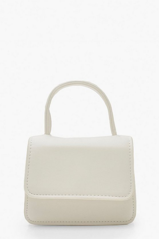 Micro Mini Handle Grab Bag by Boohoo