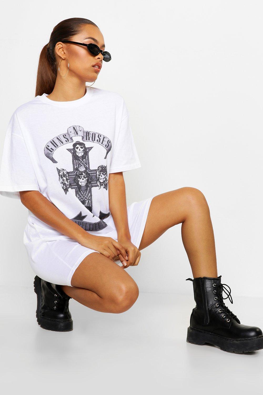 Guns N Roses Licensed T-Shirt Dress | Boohoo