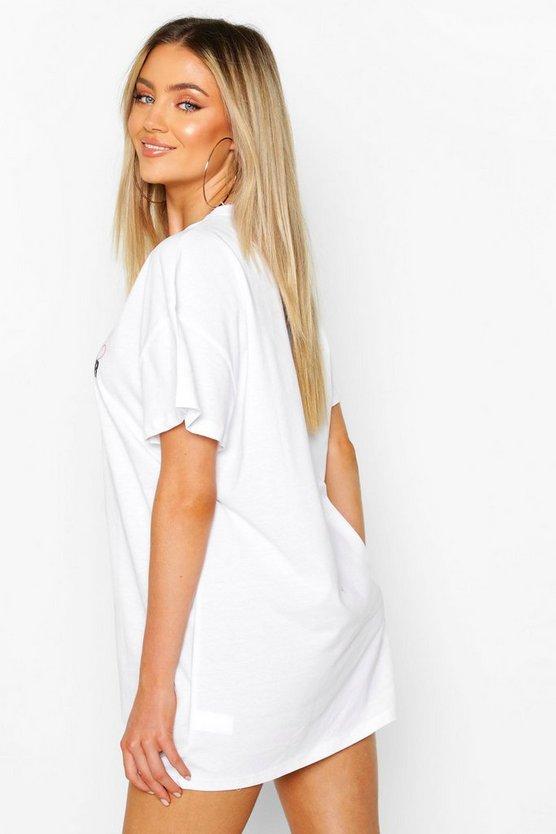 Amour Heart Print T-Shirt Dress