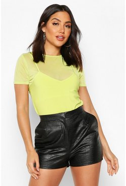 Mesh 2 In 1 T-Shirt, Neon-lime