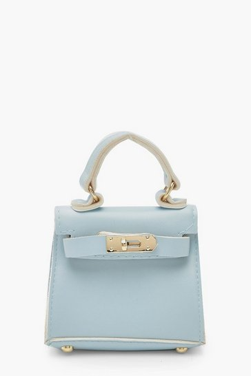Womens Baby blue Micro Mini Grab Bag