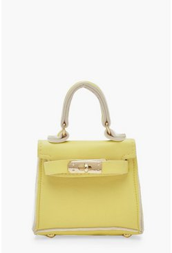 Womens Lemon Micro Mini Grab Bag