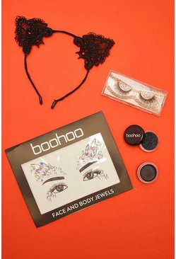 Womens Black Cat Halloween Get The Look Kit