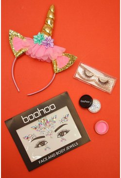 Kit de unicornio Get the Look de Halloween, Morado, Mujer