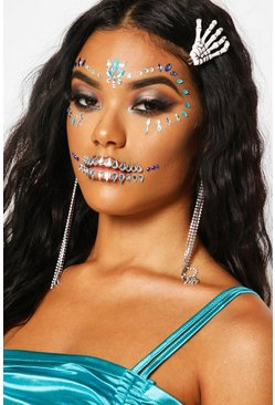 Kit de calavera chicana Get the Look de Halloween, Negro, Mujer
