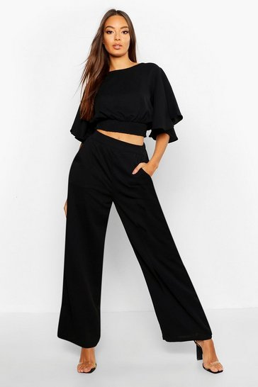 Flare Sleeve Wide Leg Trouser Co-Ord