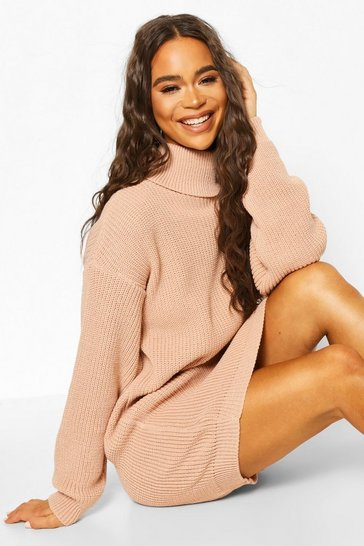 Blush Roll Neck Jumper Dress