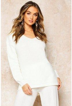 buy popular 54753 fbcbd Oversized Pullover mit V-Ausschnitt