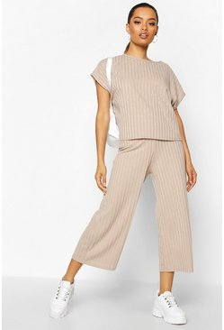 Stone Rib Slouchy Top & Culotte Co-Ord