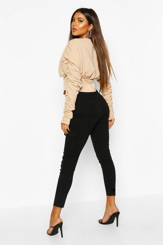 Utility Pocket Chain Detail Skinny Jean