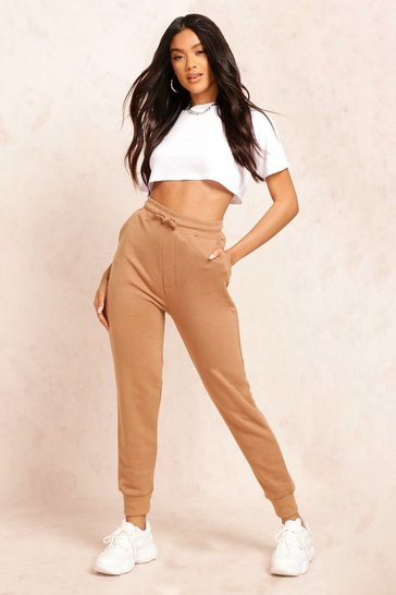 Womens Camel The Basic Loopback Jogger