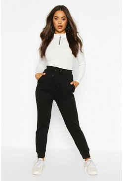Black The Slim Leg Loopback Jogger