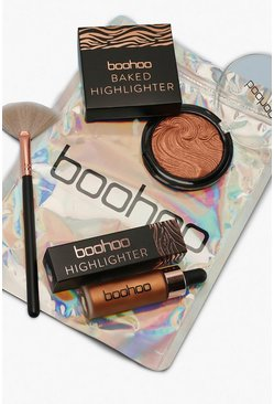 Womens Bronze Boohoo Glow Up Kit