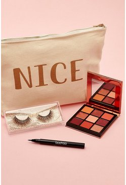 Womens Cream Boohoo Nice Beauty Kit