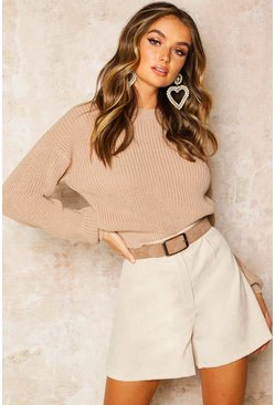 Womens Stone Crop Fisherman Jumper