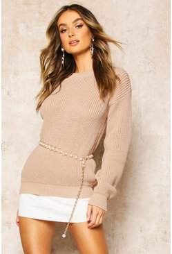 Stone Oversized Jumper