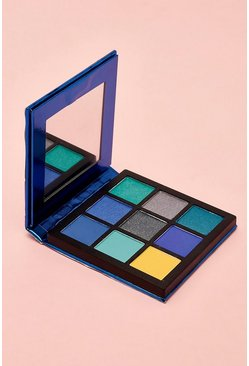 Womens Boohoo 9 Pan Royal Blue Eye Shadow Palette