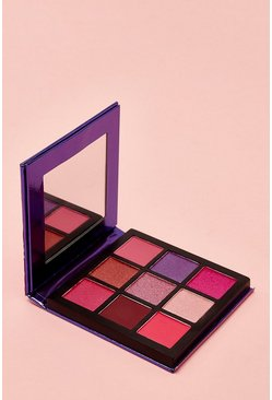 Womens Purple Boohoo 9 Pan Plum Eye Shadow Palette