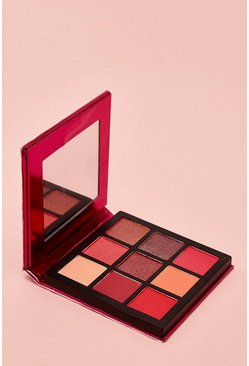 Womens Red Boohoo 9 Pan Ruby Eye Shadow Palette