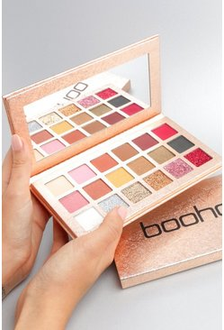 Womens Pink Boohoo Rose Gold Eye Shadow Palette