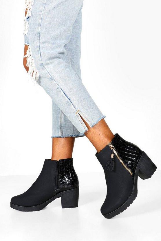 Wide Fit Zip Side Chelsea Boots