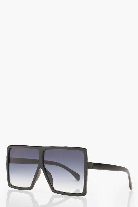 Oversized Square Smoke Lens Sunglasses