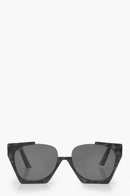 Cut Out Oversized Square Sunglasses