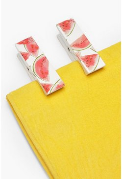 Womens White Watermelon 2 Pack Towel Pegs