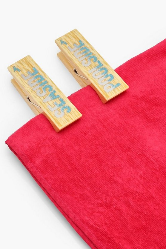 Natural Pool 2 Pack Towel Pegs