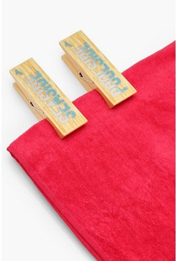 Womens Natural Pool 2 Pack Towel Pegs