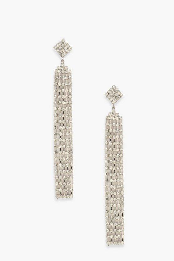 Statement Diamante Drop Earrings