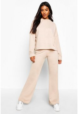 Dam Beige Pocket Detail Lounge Co-Ord