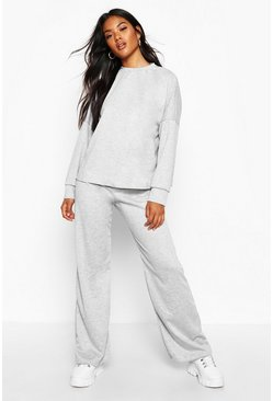 Womens Grey Pocket Detail Lounge Co-Ord