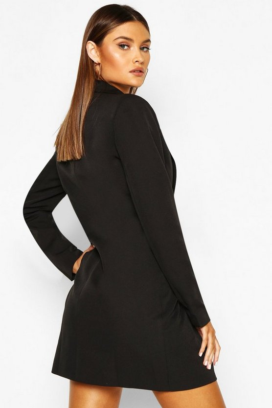 Ruffle Detail Blazer Dress