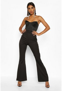 Black Slim Flare Tailored Trouser