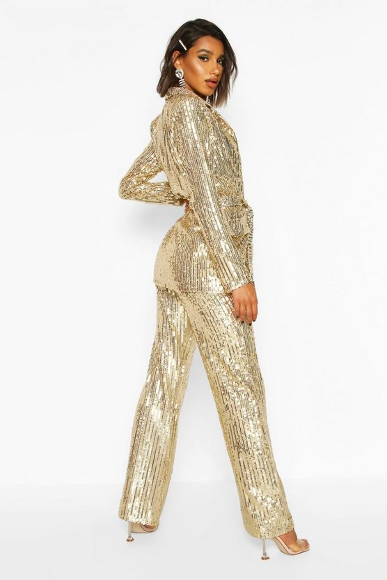 Sequin Wide Leg Trouser