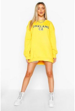 Womens Mustard Oversized Oakland Sweat