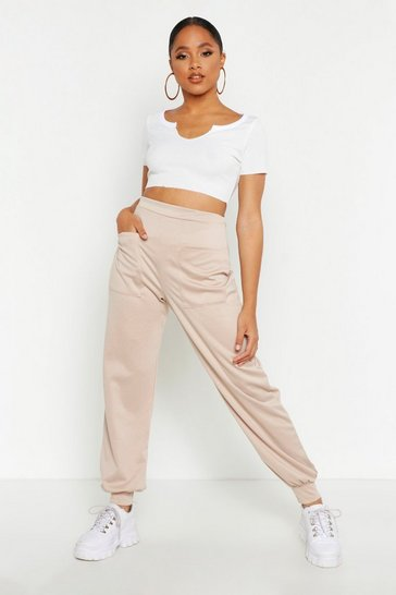Womens Stone Placement Pocket Jogging Bottoms