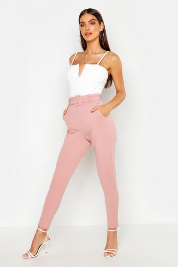 Rose Belted Slim Fit Trousers
