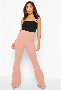 Womens Rose Deep Contour Waistband Flares