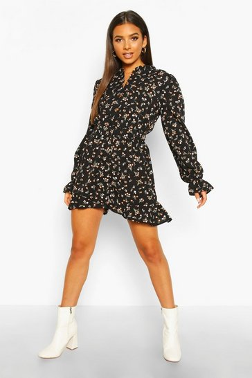 Womens Ditsy Floral Ruffle Playsuit