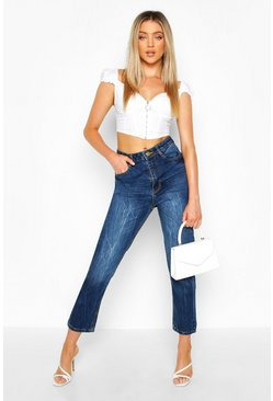 Dark blue High Rise Mom Jean