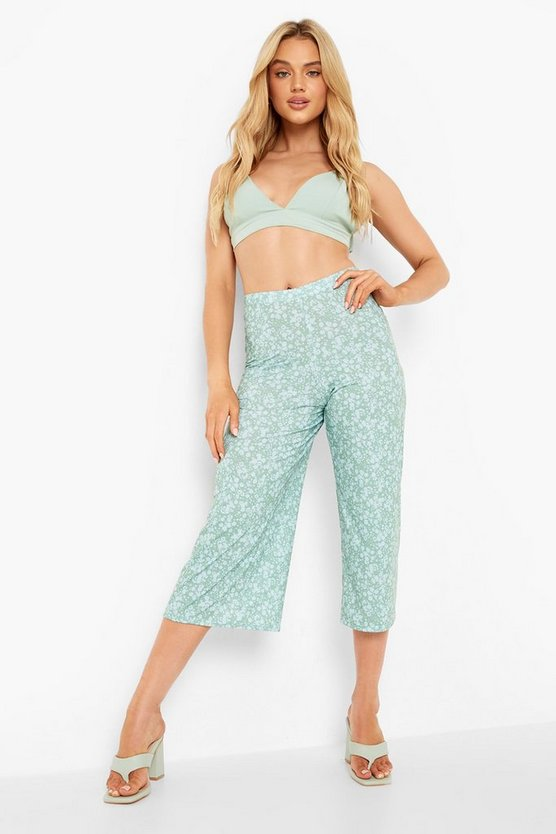 Super Flare Jersey Wide Leg Culottes by Boohoo