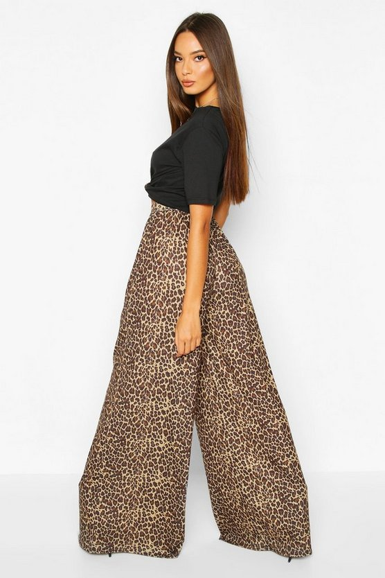 Leopard Super Flare Wide Leg Trouser
