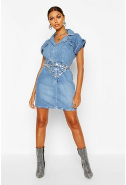Dam Indigo Belted Double Breasted Denim Dress